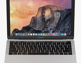 MacBook Pro with Touch Bar 3D