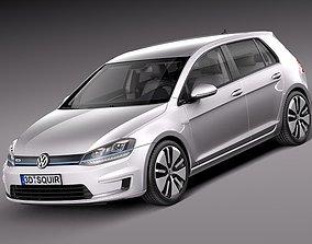 Volkswagen e-Golf 2015 3D model
