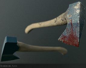 Horror Axe Weapon 3D asset