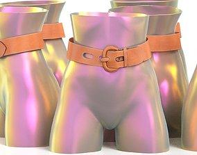 3D asset Brown Leather Belt 1