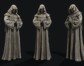 Monk Statue PBR 3D model