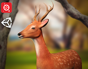 3D model Animated Lowpoly Deer