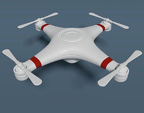 3D model Quadcopter Drone - Cartoon - Low Poly