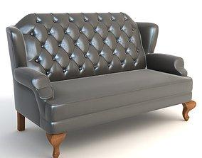 3D model Wingback Sofa