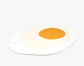3D Fried egg food