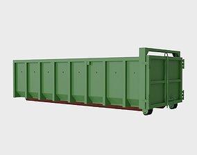 3D asset Steel dumpster 20 cubic meters