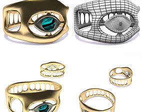 3D asset Ring all-seeing eye