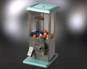 Old gum machine 3D asset