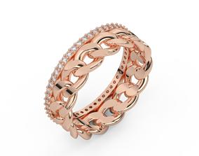 3D print model diamond cuban chain ring