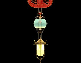 Chinese Red Lantern architectural lamp 3D model