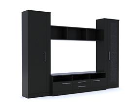 cupboard 3D model Cabinet Wall