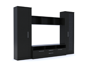 cupboard 3D model Cabinet Wall
