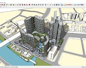 Sketchup hotel complex G10 3D