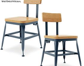 3D model Triumph-Vintage Lyon Powder coated Dining Chair