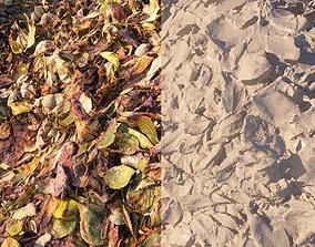 fall foliage Vray material 3D model