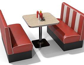 3D American Diner Furniture