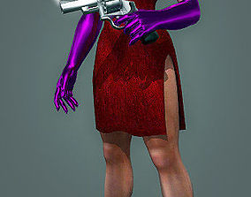 animated Jessica Rabbit Comes with Rig For LightWave 3d