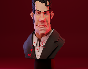 3D print model Stylized Gangster Character