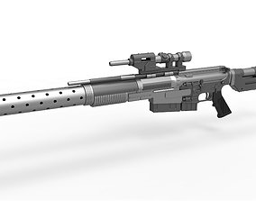 Sniper Blaster rifle A300 from the movie Rogue One 3D
