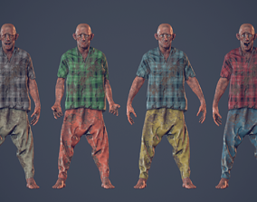 3D model Unity Ready Homeless Guy - Low Poly