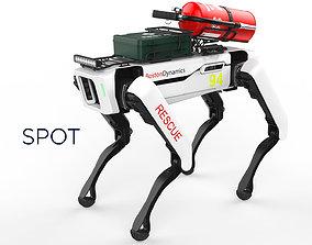 3D Boston Dynamics Spot Robot Rescue White