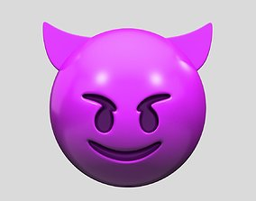 Emoji Smiling Face with Horns 3D model