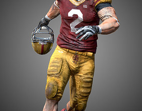 American Football Player- ANimated 3D asset