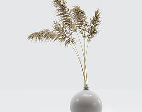 Vase with dry flowers 0002 3D