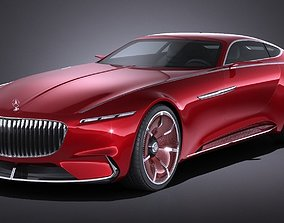 3D Mercedes Vision Maybach 6 Concept