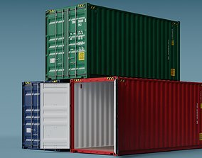 3D ISO Container 20ft High-Cube