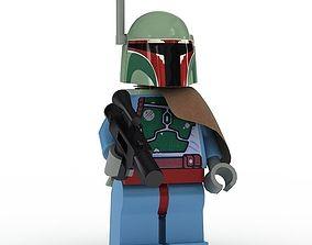 3D LEGO Minfigure Boba Fett new