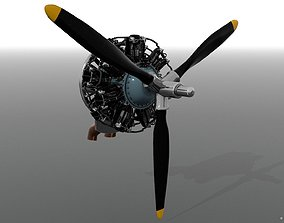 3D R-1830 Twin Wasp Aircraft Engine