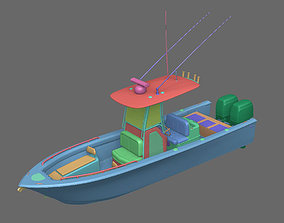 battleship 3D Fishing Boat
