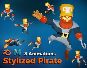Stylized Pirate - Game ready 3D model