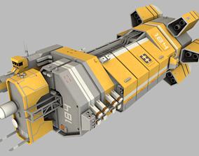 Mining command control vessel 3D model