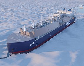 Tanker Ship 3D shipping