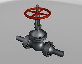 Gate valve ZKL 50 x 40 mm 3D