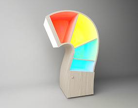 Kids bookcase 3D model