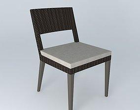 Dedon Tribeca Side Chair 3D model