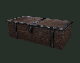 3D asset Old Wooden Chest