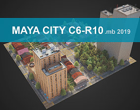 City District C6-R10 MAYA 3D model