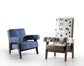 3D Le Corbusier and Pierre Jeanneret Judge s Armchair