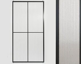 Glass partition door 4444 3D model