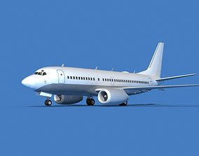 3D model Boeing 737 MAX 7 Unmarked 1