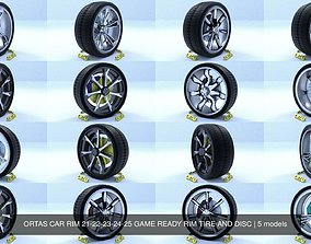 3D model ORTAS CAR RIM 21-22-23-24-25 GAME READY RIM 2