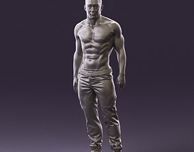 Bodybuilder topless 0962 3D Print Ready