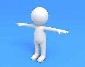 Stick Man Character 3D model