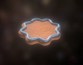 3D asset Gingerbread low-medium high poly with light blue