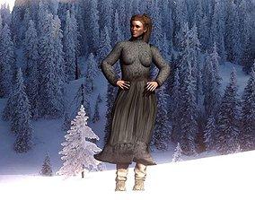 Village woman 3D model