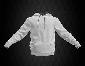3D model White Sweatshirt with Hoodie
